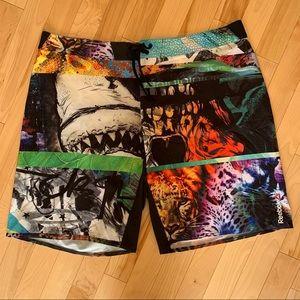 ⭐️HostPick⭐️ NWOT Reebok Print Board Shorts